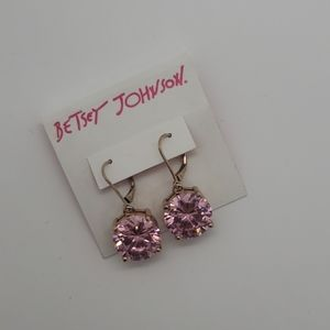 Betsey Johnsons Pink Diamond Earrings